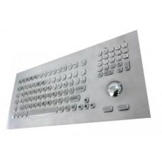 GETAC KB021 – Průmyslová nerezová klávesnice s trackballem do panelu, CZ, USB, IP65
