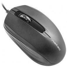 NATEC optická myš HOOPOE 1600DPI, černá, 1,8 m