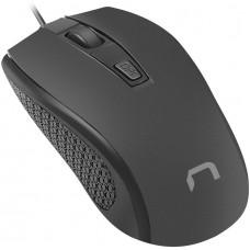 NATEC optická myš  HOOPOE 2, 1600DPI, černá 1,8 m