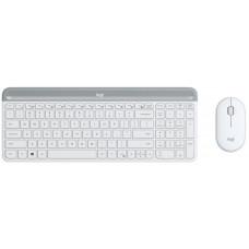 Logitech klávesnice s myší Wireless Combo Slim MK470 US - bílá