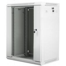 LANBERG Nástěnný rack 19'' 15U 600X450mm šedý flat pack