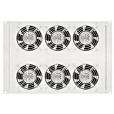 SCHRACK Horní/spodní ventil.jednotka,6x ventilátor,termostat,8U