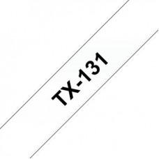 BROTHER TX-131, černý tisk / průhledný podklad, 12 mm