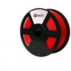 C-Tech Tisková struna (filament) ABS, 1,75mm, 1kg, flourescentní červená