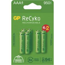 GP BATERIE GP nabíjecí baterie ReCyko 1000 AAA (HR03) 4+2PP
