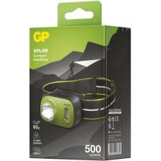 GP BATERIE LED nabíjecí čelovka GP Xplor PHR17, 500 lm