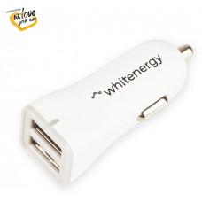 WHITENERGY WE auto adaptér 2x USB 5V 2400mA Blister White