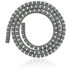 4WORLD 4W Organizér kabelů 16MM 1,5m šedý