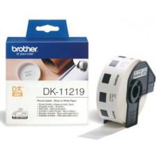 BROTHER DK-11219 (papírové / kulaté, průměr 12 mm -1200ks)