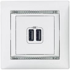 ABB Valena USB nabíječka 2-násobná 1,5A Bílá