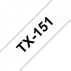 BROTHER pásková kazeta TX151 – černý tisk na čirém podkladu, šířka 24 mm