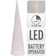 osvětlení PYRAMIDA 80cm BÍ, 40LED s časovačem
