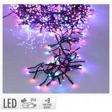 osvětlení vánoční 5,6m 768LED duhová (MO, ORANŽ, RŮŽ), 8 funkcí