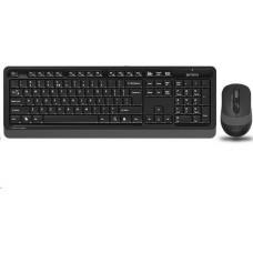 A4-tech A4tech FG1010 Grey FSTYLER set bezdr. klávesnice + myši, voděodolné provedení, šedá barva