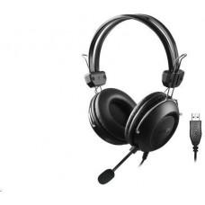 A4-tech A4tech HU-35 sluchátka, USB, černá barva