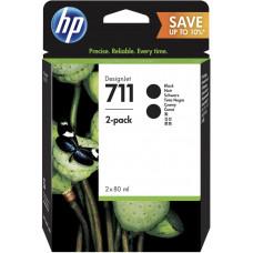 HP no 711 - černá inkoustová kazeta 2-pack, P2V31A