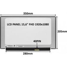 SIL LCD PANEL 15,6 FHD 1920x1080 40PIN MATNÝ IPS 144HZ / BEZ ÚCHYTŮ