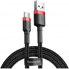 Baseus CATKLF-B91 Cafule Kabel USB-C 3A 1m Red/Black