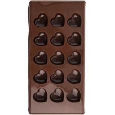 forma na čokoládu srdce 15ks 22x11,5x2cm silikon HN