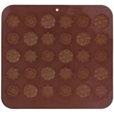 forma na čokoládu kytičky 30ks 21x20,5x1,5cm silikon HN