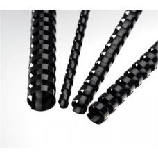 FELLOWES Plastové hřbety 6 mm, černé