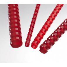 FELLOWES Plastové hřbety 10 mm, červené