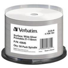 VERBATIM DVD-R (16xWide Silver, 4,7GB), 50 cake