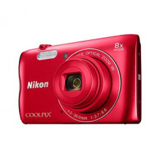 NIKON Coolpix A300 červený,20,1M, 8xOZ, HD Video