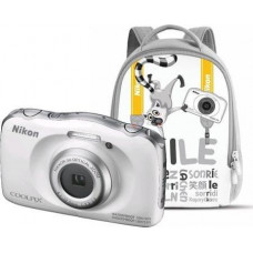 NIKON Coolpix W100 bílý, 13,2MPx,3xOZ,FHD Video + Batoh