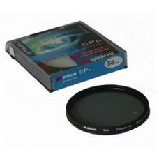 BRAUN PHOTOTECHNIK BRAUN C-PL polarizační filtr StarLine - 58 mm