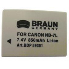 BRAUN PHOTOTECHNIK Braun akumulátor CANON NB-7L, 850mAh