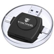 VIKING ČTEČKA PAMĚŤOVÝCH KARET V4 USB3.0 4V1 černá