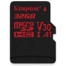 KINGSTON 32GB microSDHC Kingston Canvas React  U3 100R/70W V30 A1 + bez adapteru