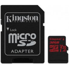 KINGSTON 32GB microSDHC Kingston Canvas React  U3 100R/70W V30 A1 + SD adapter