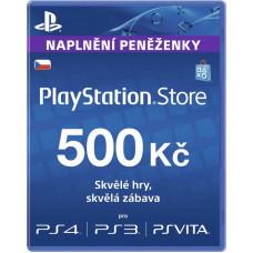 SONY PLAYSTATION PlayStation Live Cards Hang 500Kč - pouze pro CZ PS Store