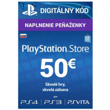 SONY PLAYSTATION PlayStation Live Cards 50 EUR Hang pro SK PS Store