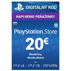 SONY PLAYSTATION PlayStation Live Cards 20 EUR Hang pro SK PS Store