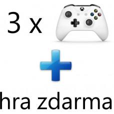 MICROSOFT AKCE: 3 x XBOX ONE - Bezdrátový ovladač Xbox One, bílý + 1 hra ZDARMA