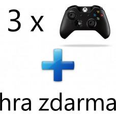 MICROSOFT AKCE: 3 x XBOX ONE - Bezdrátový ovladač Xbox One, černý + 1 hra ZDARMA