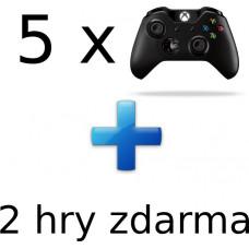 MICROSOFT AKCE: 5 x XBOX ONE - Bezdrátový ovladač Xbox One, černý + 2 hry ZDARMA