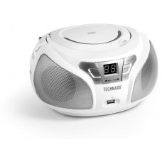TECHNOSONIC Technaxx Boombox CD přehrávač, BT, FM, USB, bílý