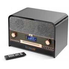Technaxx Retro CD přehrávač, Bluetooth, DAB+/FM, AUX-IN & USB, černý (TX-102)