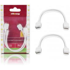 WHITENERGY WE Spojka RGB LED pásku kabelová 15cm 2x4PIN M 2ks