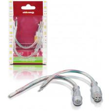 WHITENERGY WE Spojka RGB LED pásku kabelová 15cm DC M,F IP67