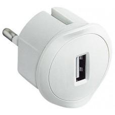 LEGRAND USB adaptér do zásuvky bílý