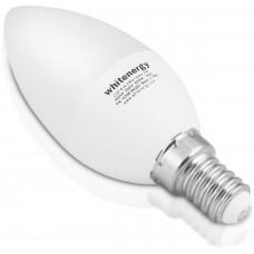 WHITENERGY WE LED žárovka SMD2835 C37 E14 7W teplá bílá