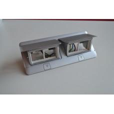 LEGRAND POPUP matný hliník 2x4 moduly