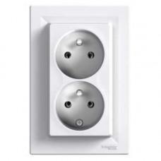 Schneider Electric Asfora - zásuvka 2násobná 2x(2P+PE), 16A - bílá