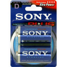 SONY Alkalické baterie AM1B2D, 2 ks LR20/D, Stamina Plus