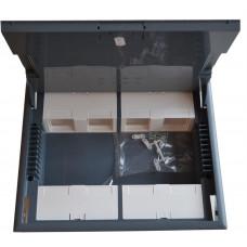 LEGRAND PODLAHOVÁ krabice, 12 modulů, šedý kryt
